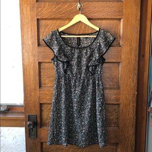 Sweet ruffle floral dress